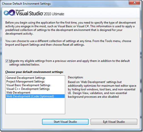 Visual Studio 2010 - Screenshot - Refreshingly Different