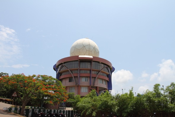 Radar tower on top of Kailashgiri