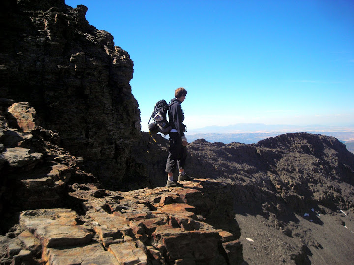 High altitude trekking in the Sierra Nevada