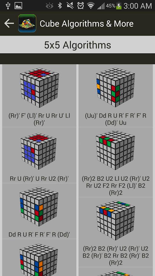 4x4 cube parity algorithms