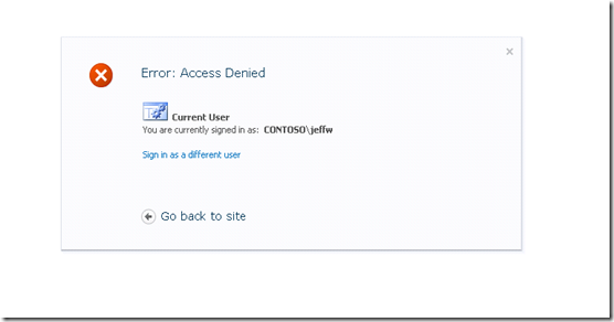 SharePoint 2010 Error Page