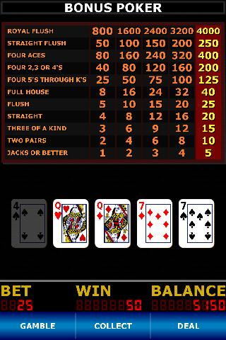Video Poker Classic - screenshot