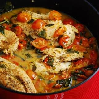 Tomato Basil Chicken.