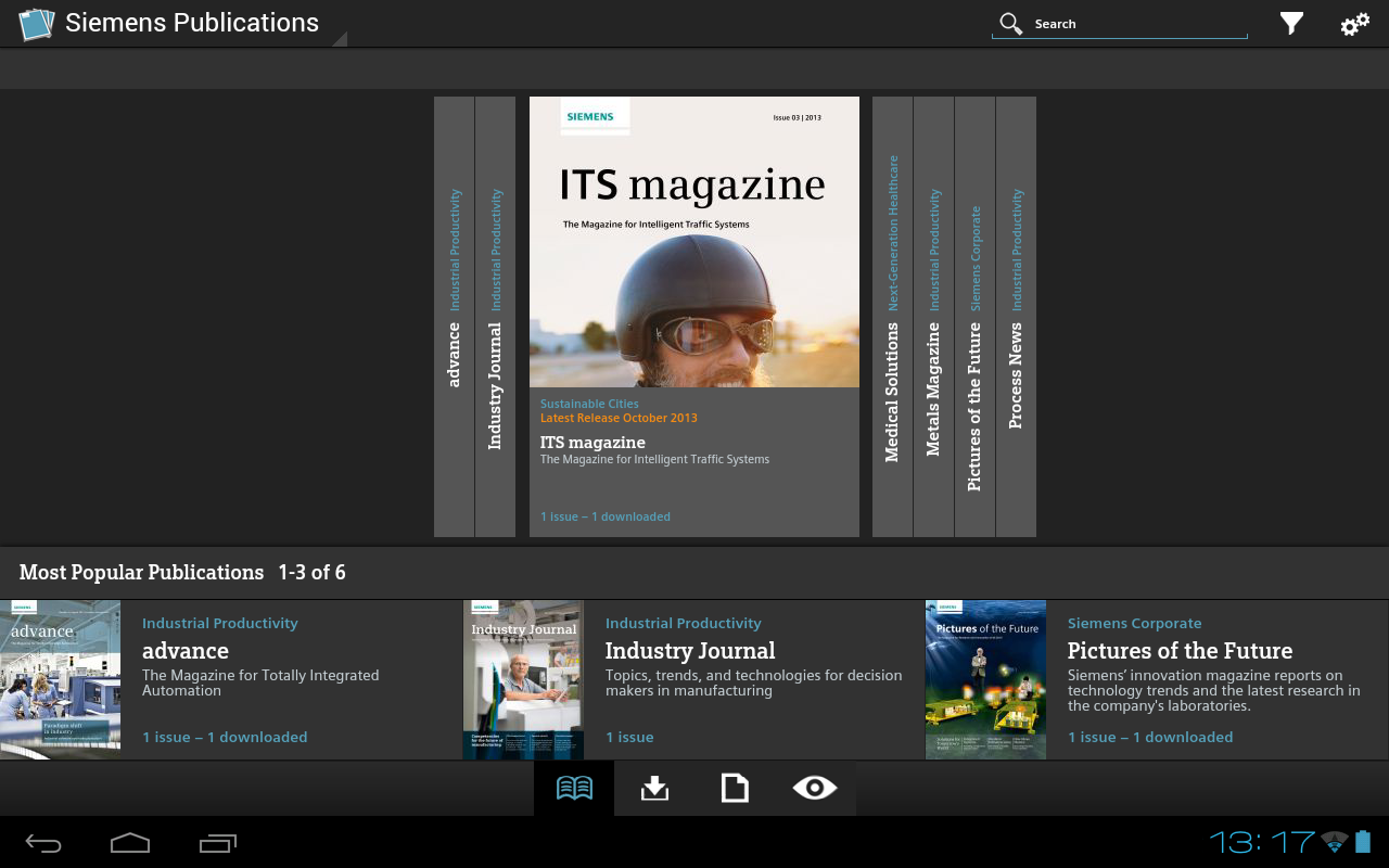 Siemens Publications- screenshot