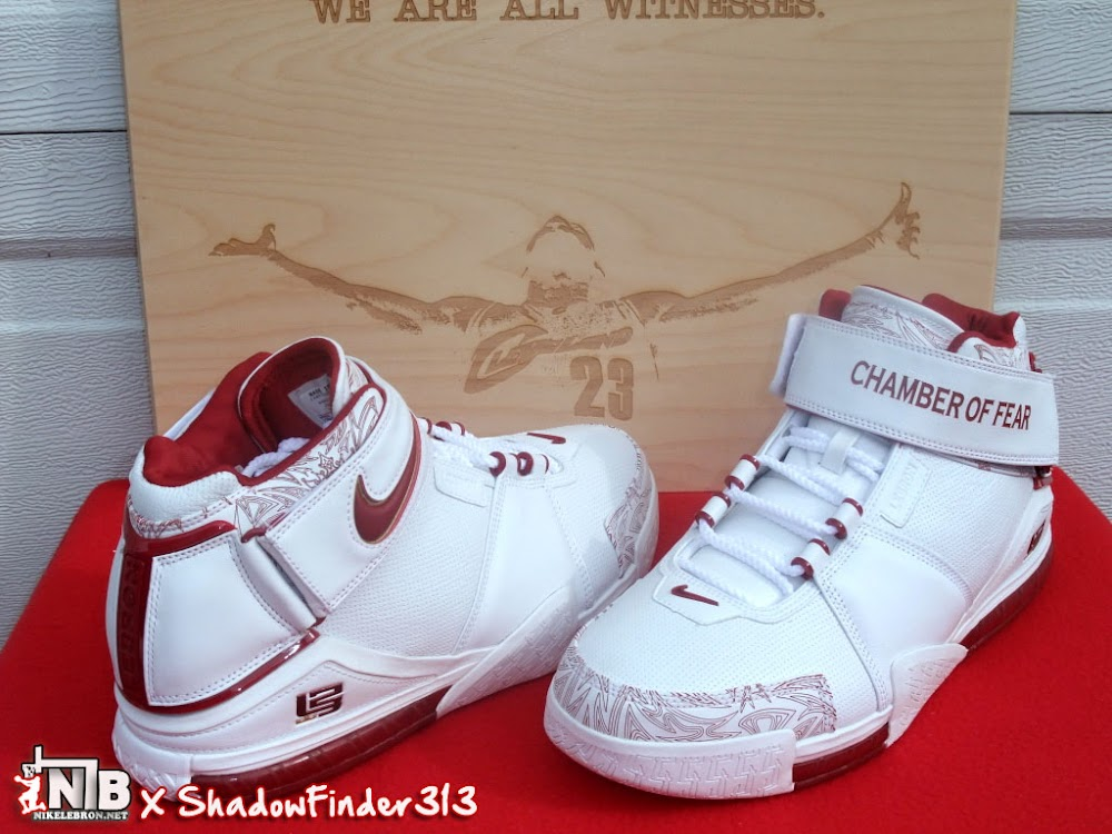 newest collection 5628c 461b5 Nike Zoom LeBron II Chamber Of Fear White Red PE ...