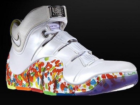 "Nike Zoom LeBron IV ""Fruity Pebbles"" Alternate Player ..."