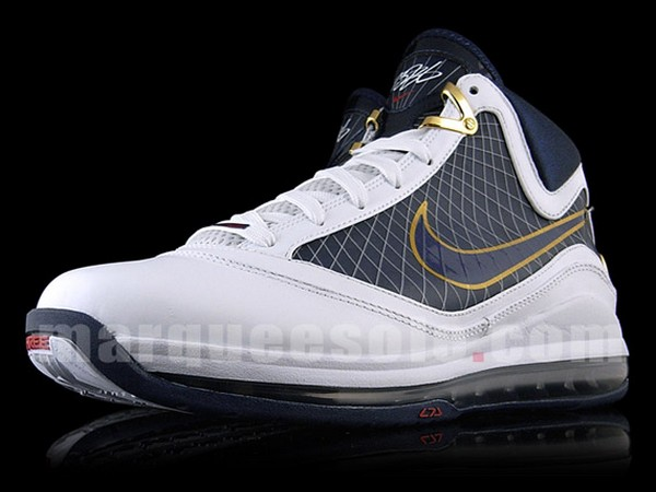 new arrivals 2775d 1d81f Nike Air Max LeBron VII WhiteMidnight NavyVarsity Red ...