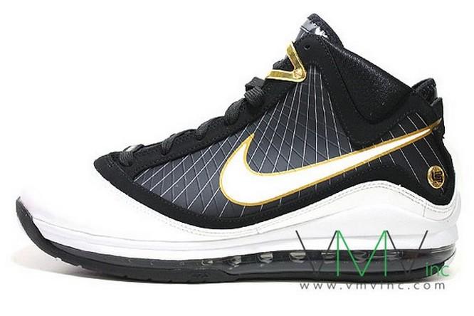 timeless design 33588 091c8 Upcoming Nike Air Max LeBron VII Black White Gold New Pics   NIKE LEBRON -  LeBron James Shoes