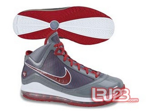 d1480c83548d4 New Air Max LeBron VII Grey Patent CWs 8211 Blue Red and Orange ...