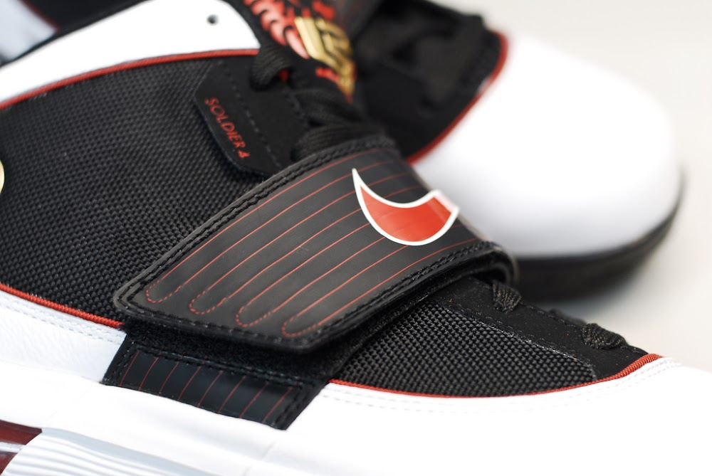 buy online 35cd1 ddc9b ... Nike Zoom LeBron Soldier IV 8211 BlackWhiteRed 8211 Actual Photos ...