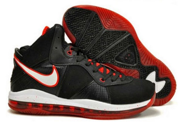 outlet store fae3c 025b9 Nike Air Max LeBron VIII BlackWhiteRed Official Release Date ...