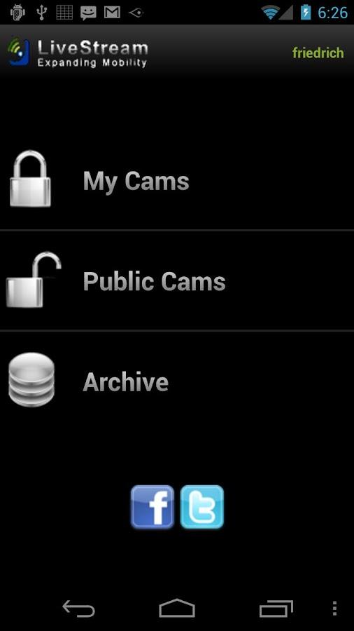 LiveStream- screenshot