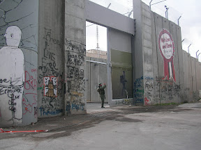 Separation wall & checkpoint in Bethlehem