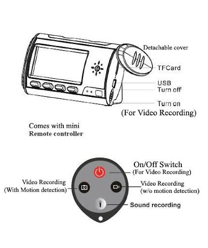 Motion Detection Travel Alarm Clock HD Color Camcorder