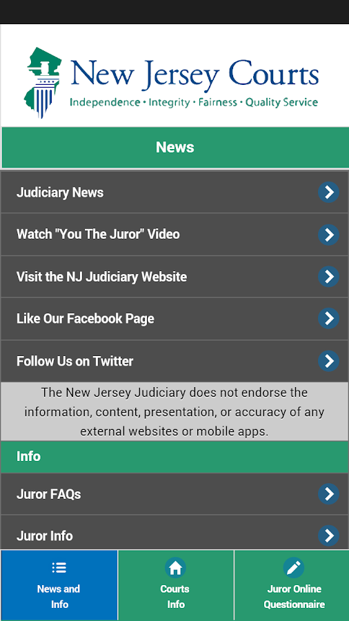 New Jersey Juror - screenshot