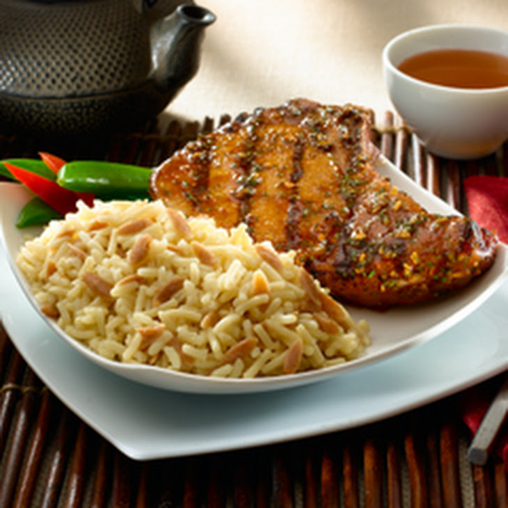Asian-Style Pork Chops with Rice Pilaf Recipe