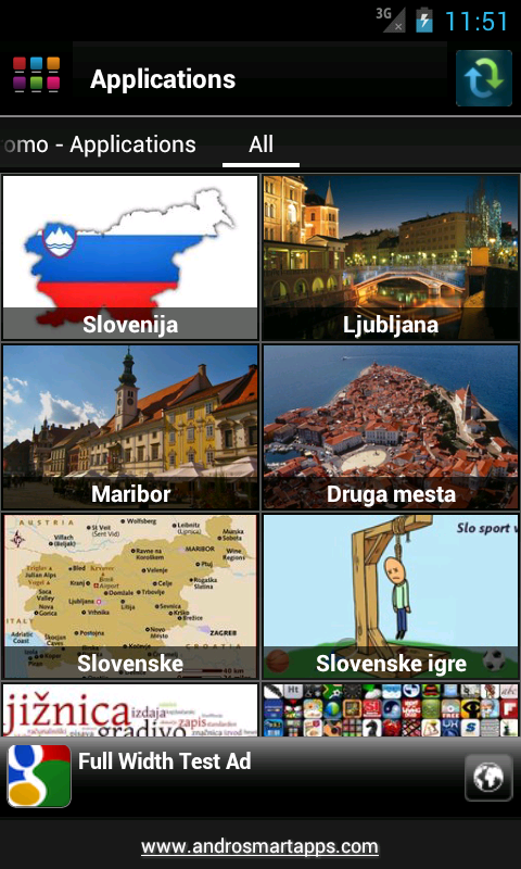 Slovenija Android - screenshot