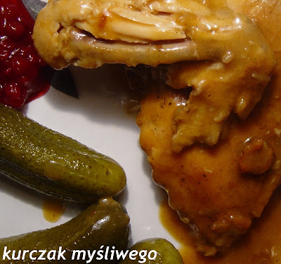 Kurczak myśliwego i  pieczone ziemniaki w plastrach