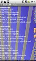 Screenshot of Golden Goal! Football Quiz