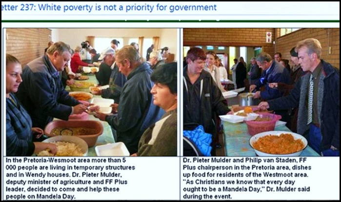 Helping poor whites not a SA gov't priority ...