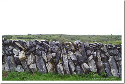 Stone wall in the Burren