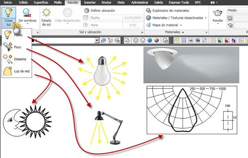 Curso online de AutoCAD 3D - libre: 20.02. Añadir luces artificiales