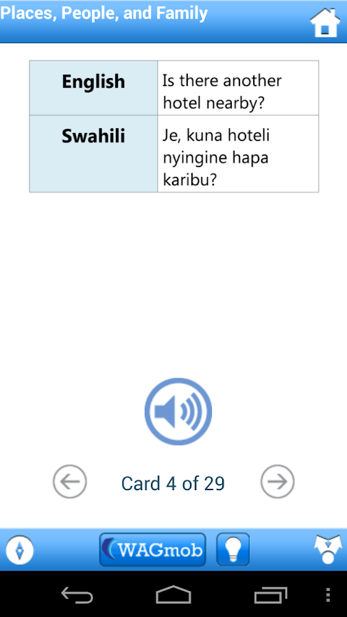 Learn Swahili by WAGmob - screenshot