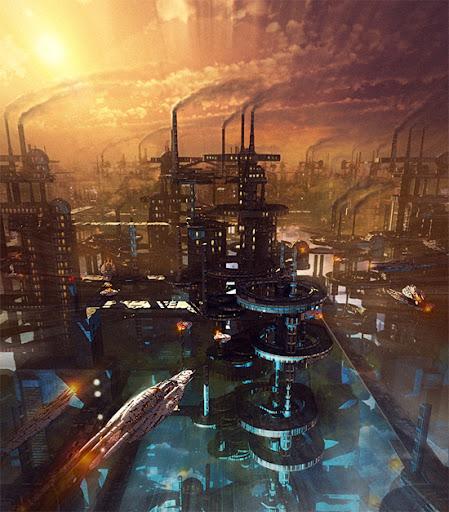 Digitalrevolution Blog Retro Sci Fi: Breathtaking Future City Concept Art « GraphicBuzz