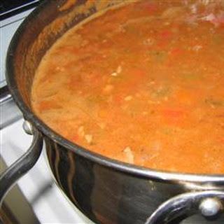 Venison-Bacon White Chili.