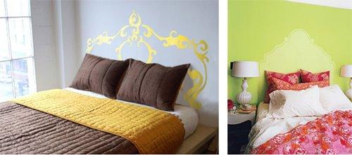 ideas para crear un cabecero de cama con pintura