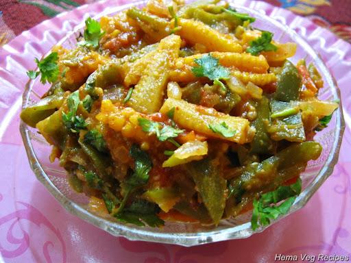 Baby Corn Capsicum Curry