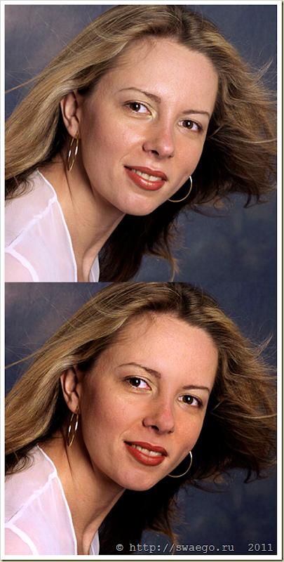Как убрать жирный блеск с лица в Фотошопе