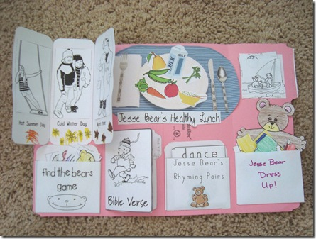Jesse Bear Activities And Lapbook Confessions Of A