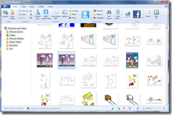 The updgrade to Windows Live Photo Gallery has a very clean User Interface