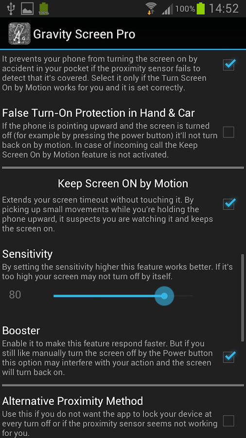 Gravity Screen - On / Off - screenshot