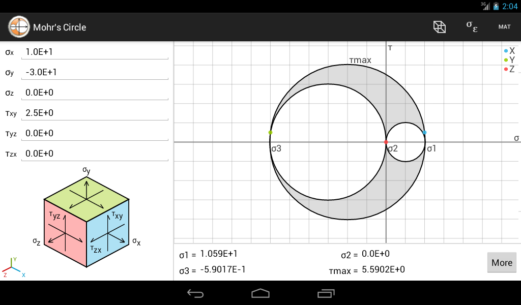 Mohr S Circle Advanced Free Android Apps On Google Play