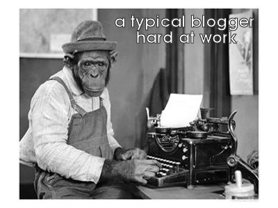 a typical blogger / blogging