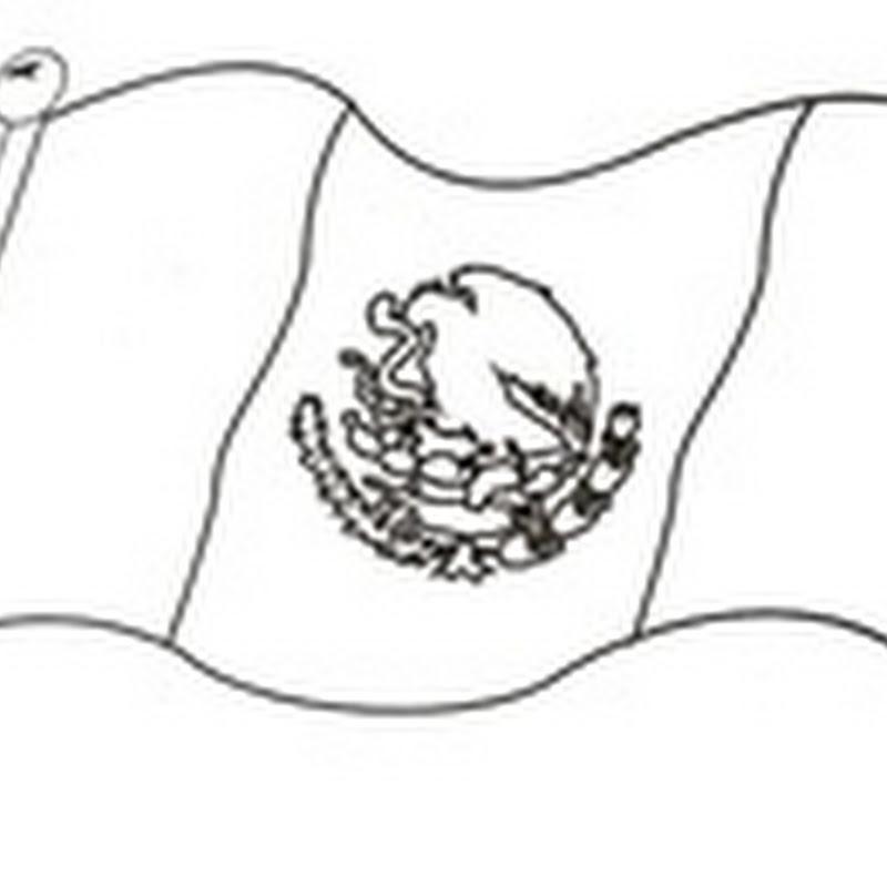 Dibujos para colorear día de la bandera Mexicana