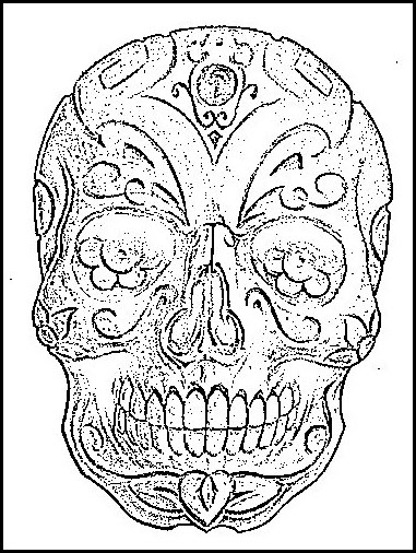 Dibujos Para Colorear D 237 A De Los Muertos