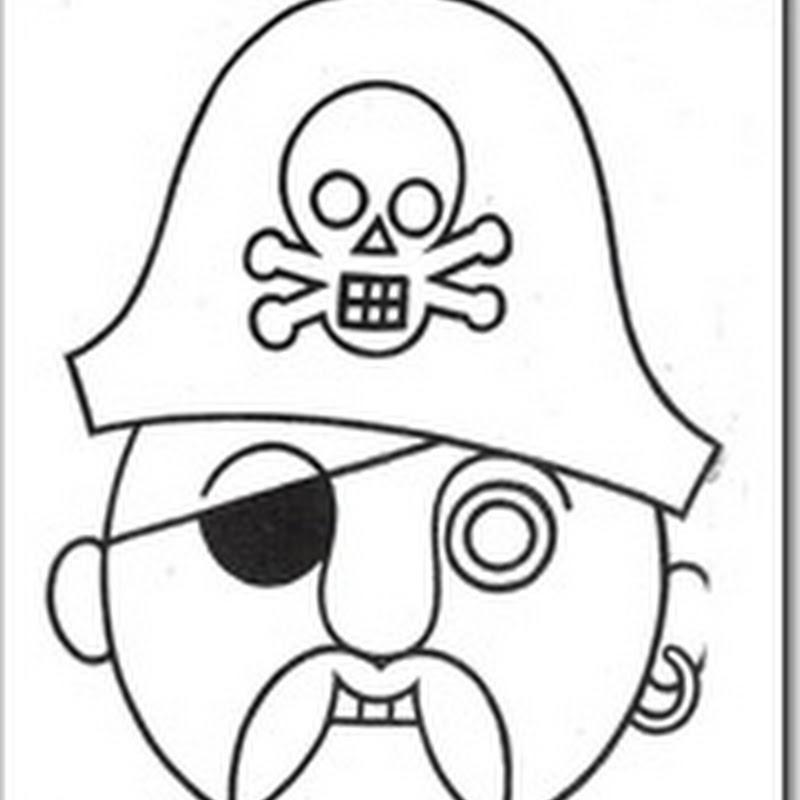 Mascaras Carnaval Para Colorear De Piratas Jugar Y Colorear