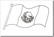 Bandera De México Para Colorear