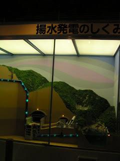 揚水発電の仕組みの模型