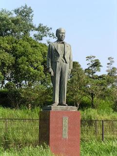 八木一郎翁の銅像