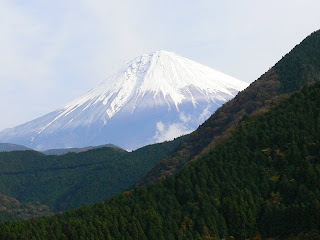 道中に見える富士山