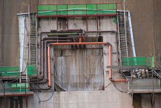 二次転流用の堤内仮排水路