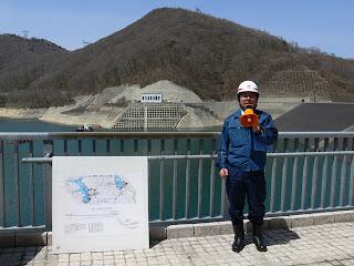 八汐ダム到着