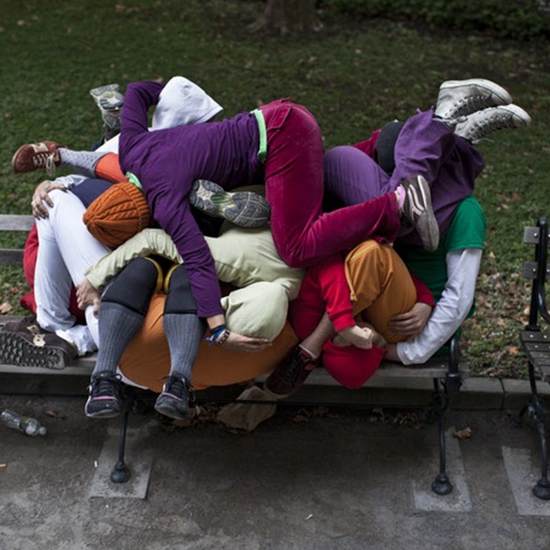 Bodies in Urban Spaces by Willi Dorner