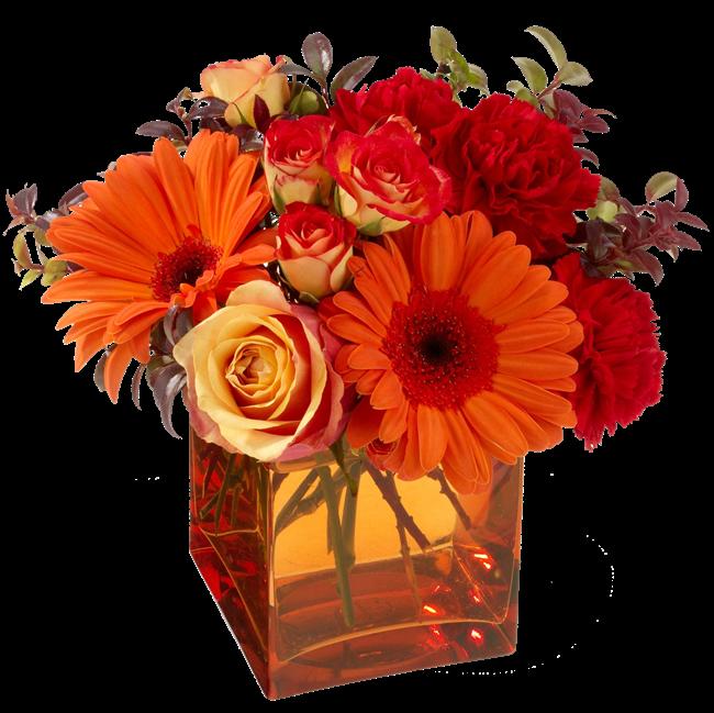 Imagem para face vaso de vidro com flores coloridas