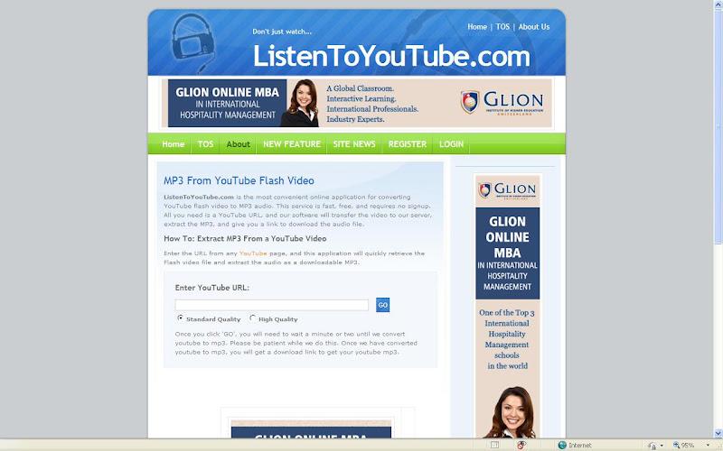 Geek's Stuff!: Download Youtube videos in mp3 format
