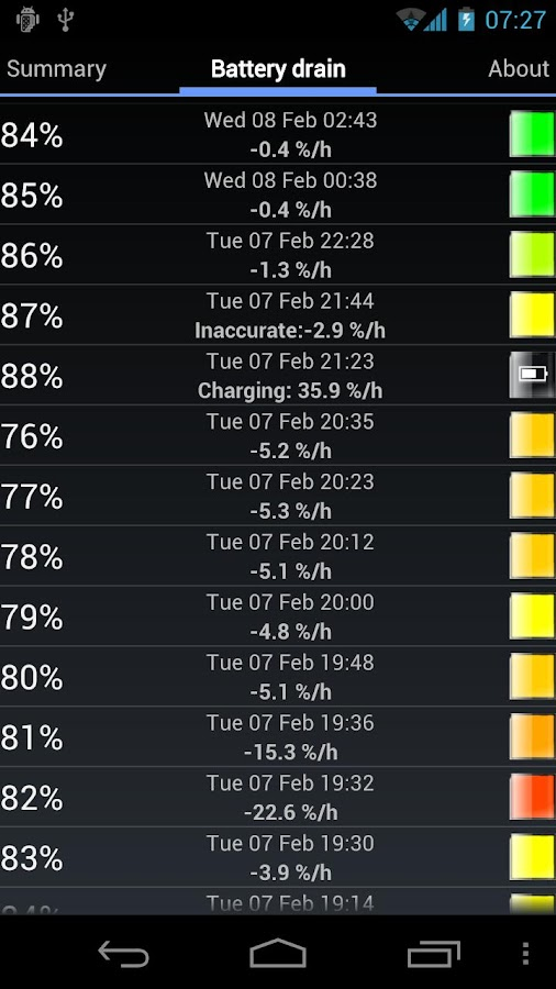 My Battery Drain Analyser- screenshot